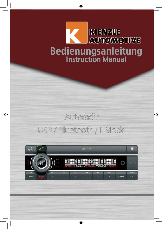 Axion MCR1116BTK Car Audio System User Manual 9496CRB4248NC317A ...