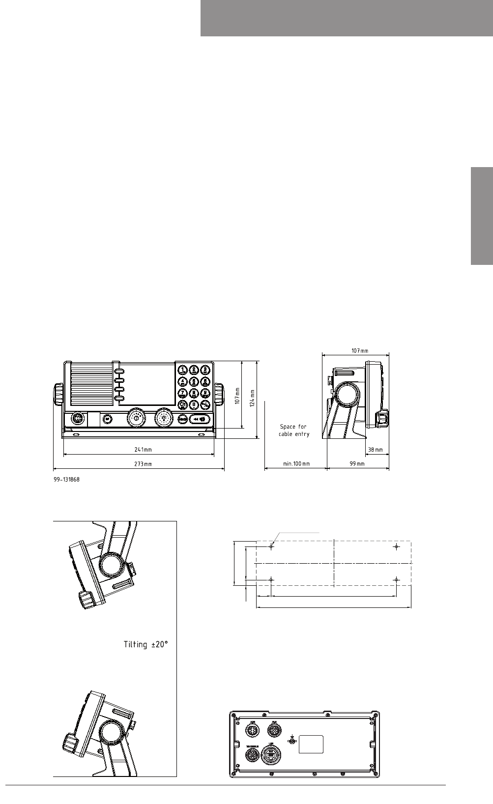 Thrane and Thrane A S 6300B Sailor 6366 TU MF/HF 150W DSC