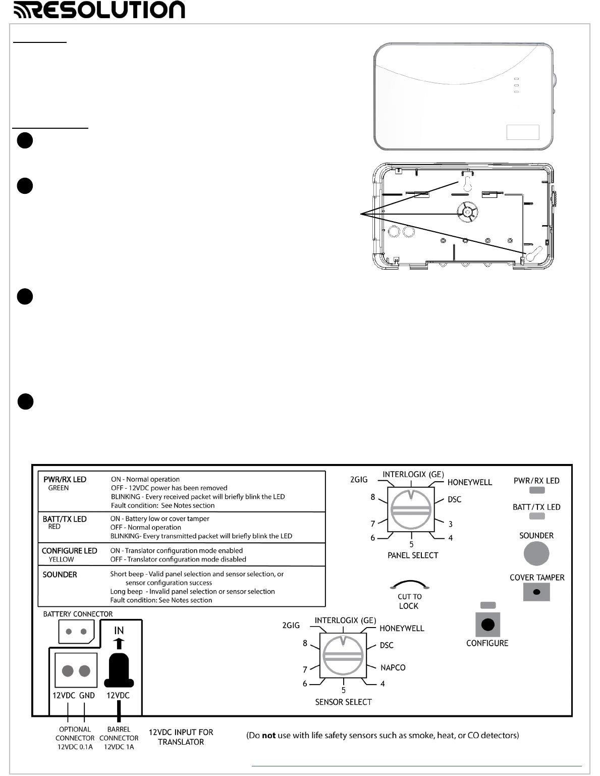 Resolution RE524X RE524X - Wireless to Wireless Translator User Manual