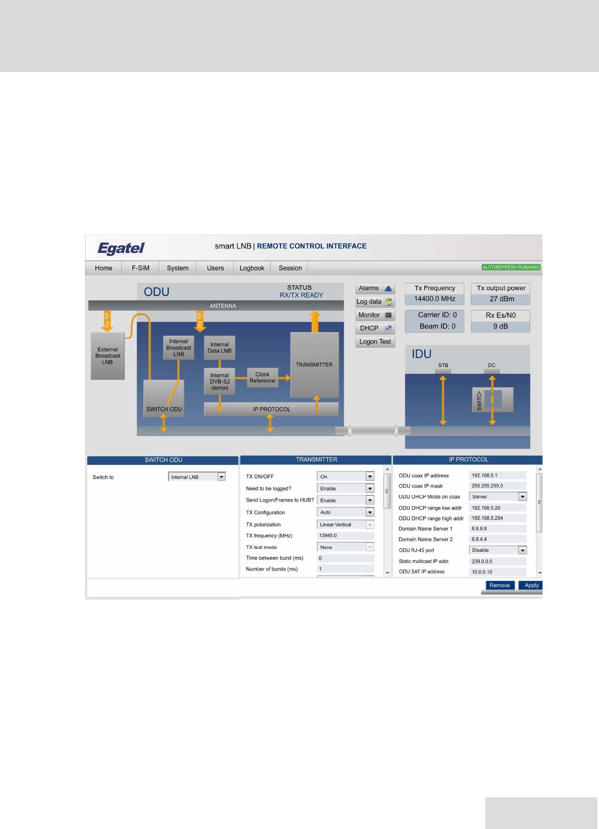EGATEL SL 820003-02 Satellite Terminal Equipment User Manual