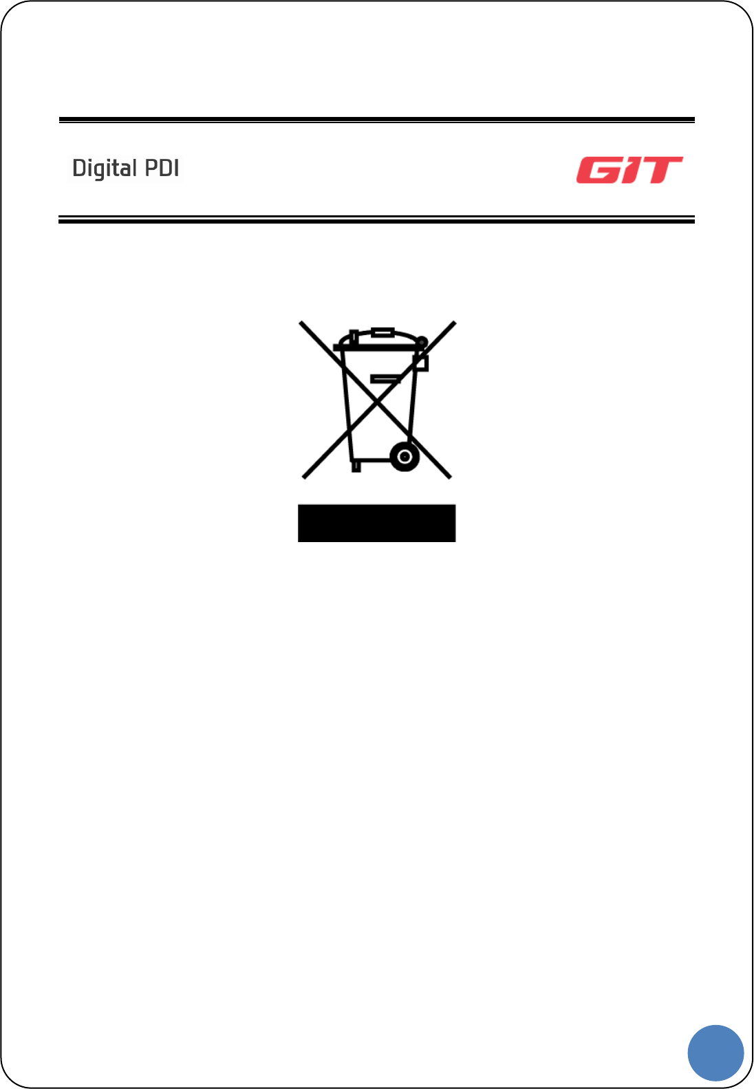 GIT G1QDDMM008 Scan Tool User Manual