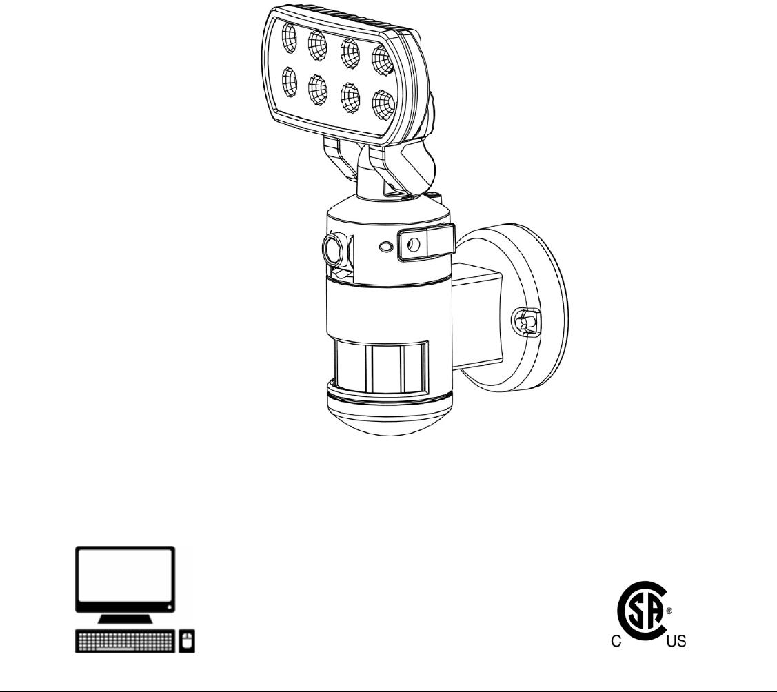 AURUM 9331BSD-SP8-WF LED MOTION SENSOR TRACKING LIGHT WITH