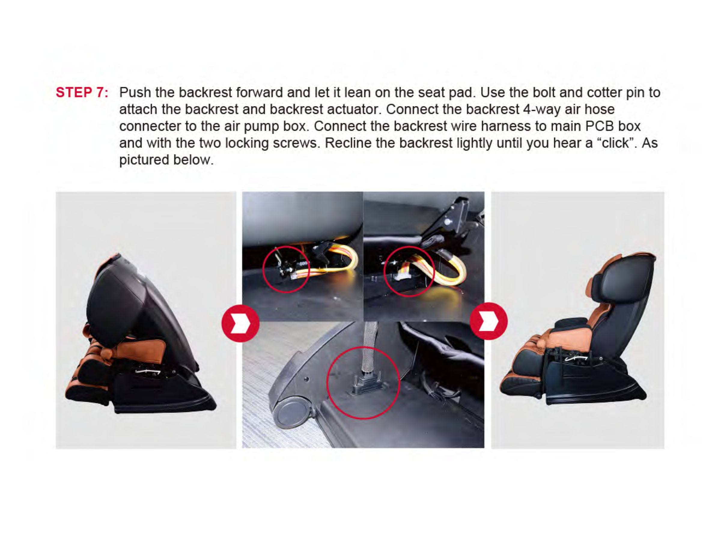 Xiamen Comfort Science And Technology Group Ec802a Massage Chair Car Wire Harness Consult The Dealer Or An Experienced Radio Tv Technician For Help