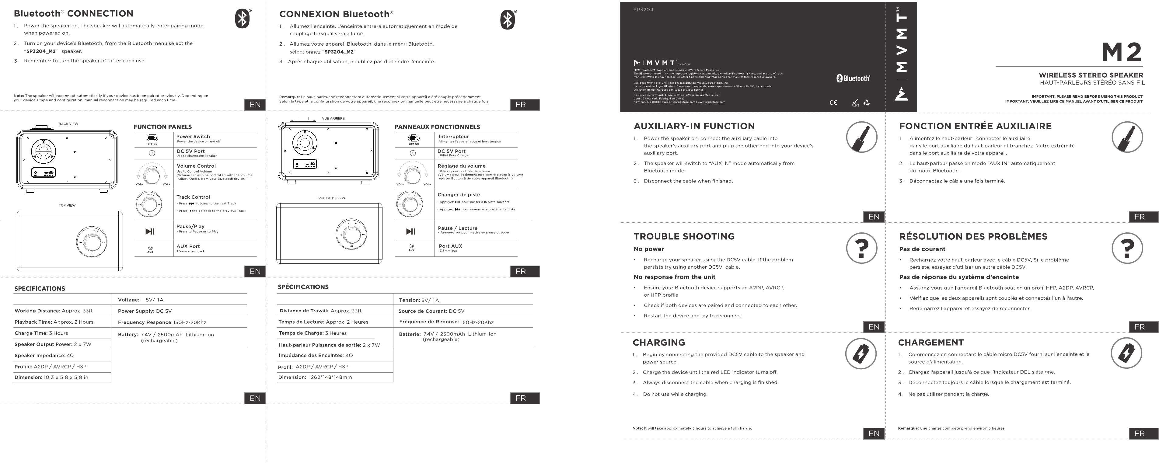 CHINA ELECTRONICS M2 Bluetooth Speaker User Manual