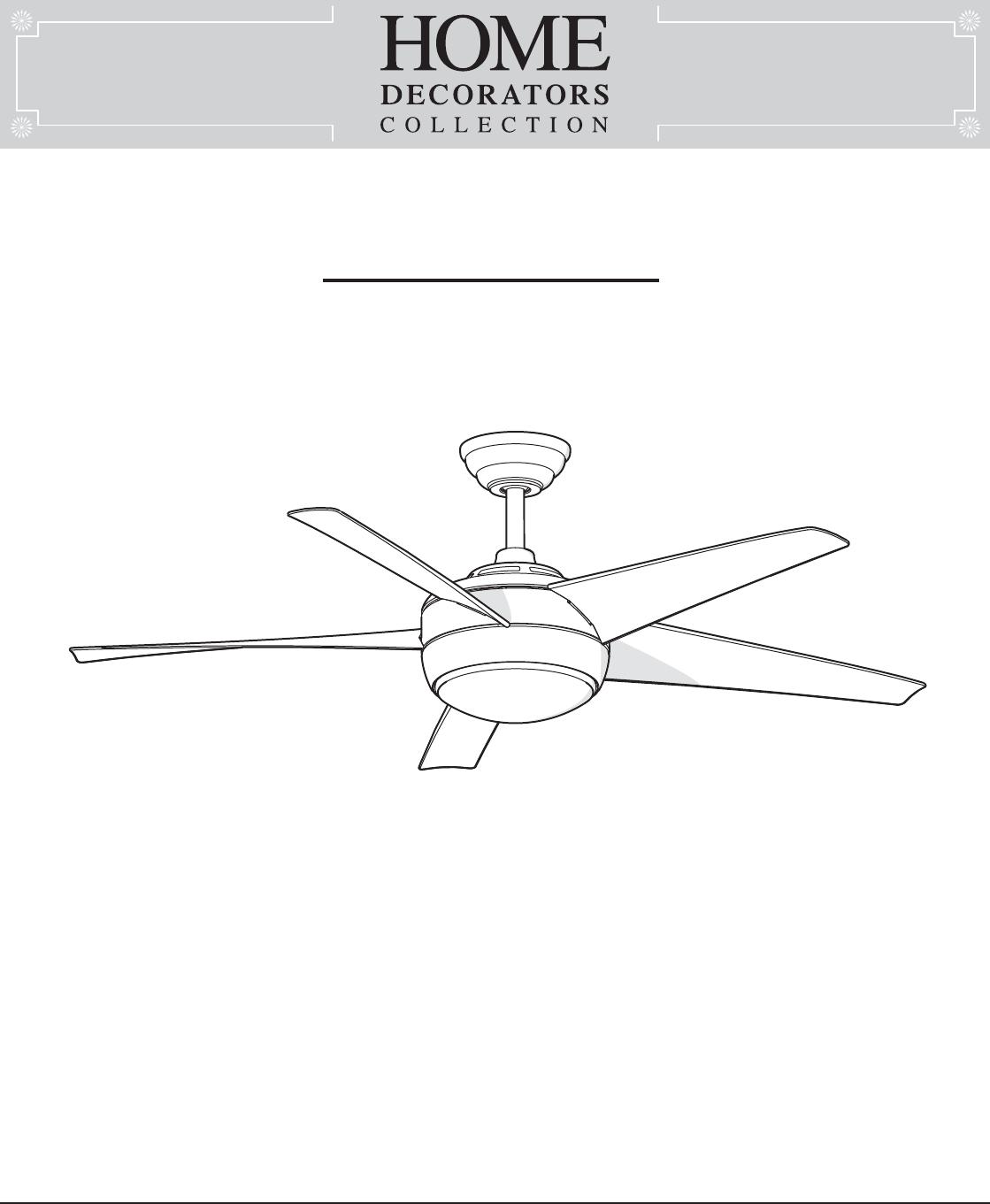 King of Fans 52WWDIVS2 52 inch Windward IV User Manual 52in ... Hampton Bay Windward Iv Ceiling Fan Wiring Diagram on