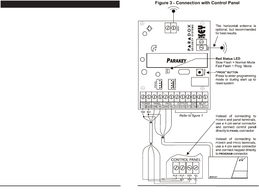 Paradox Security Systems PARAKEYRX User Manual Parkei02