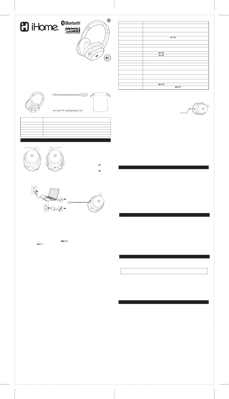 SDI Technologies IB98 Noise Cancelling Wireless Headphones