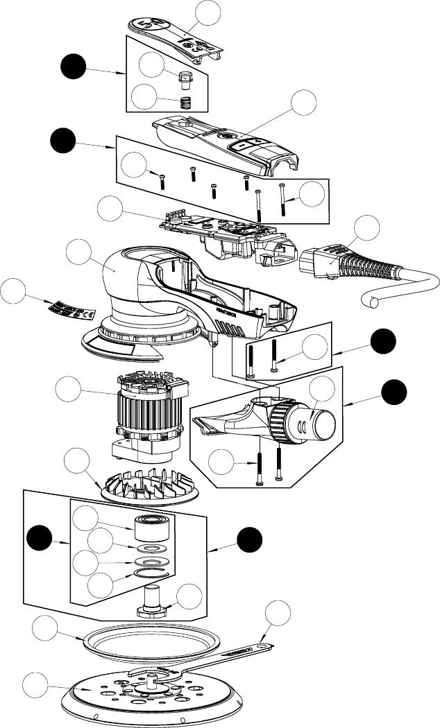 Mirka HVX Random orbital sander (DEROS) / Orbital sander