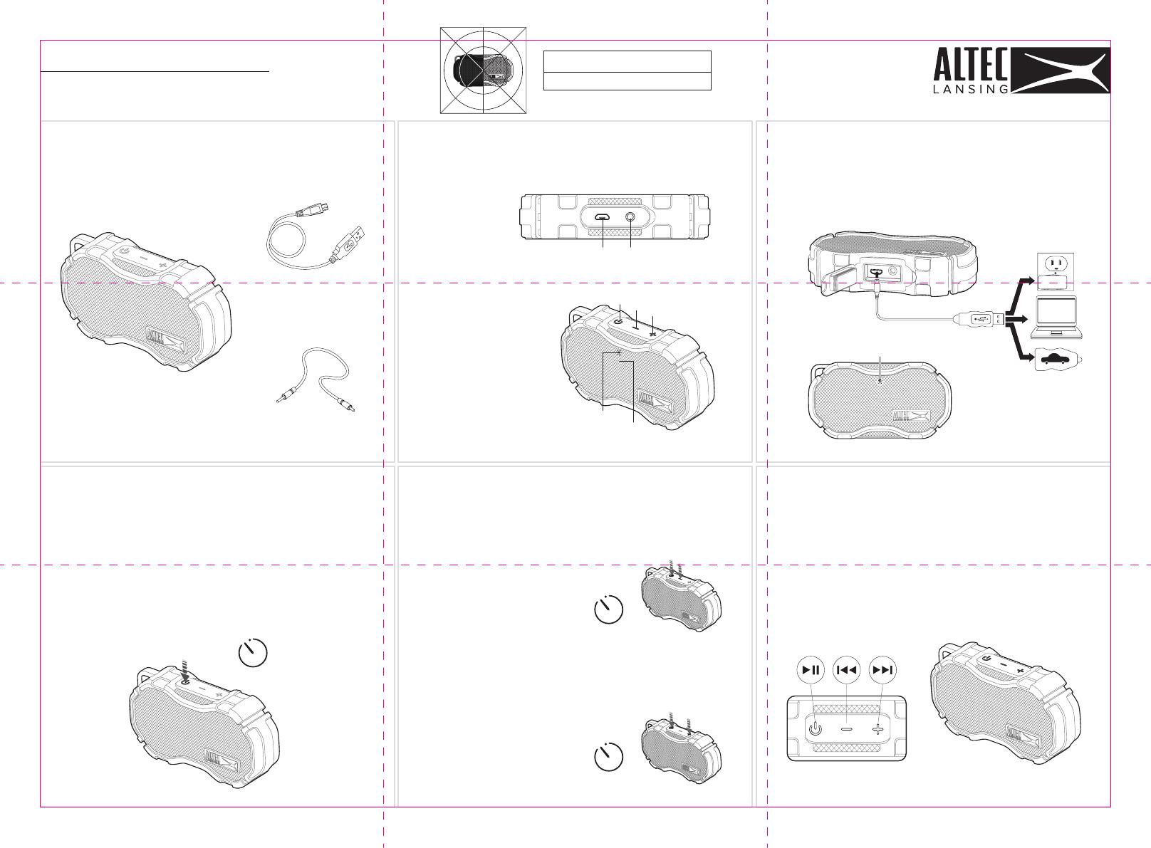 ATI Electronics IMW269 Bluetooth Speaker User Manual