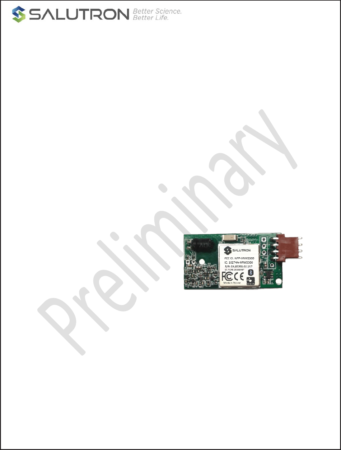 Salutron Hrm3300 Heart Rate Module 3300 Series User Manual Heartbeatmonitorcircuitjpg Confidential