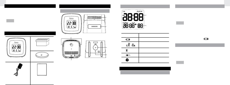 IDT Technology RM660 SENSES Aroma Clock With Brain Music