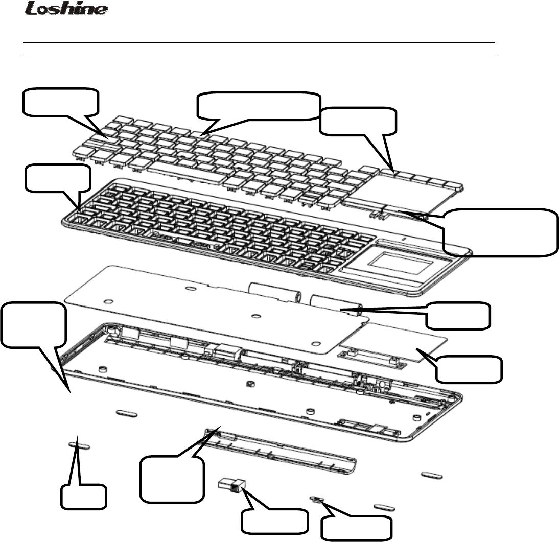 Loyal Electronics KG3608 2.4G Wireless Keyboard User Manual