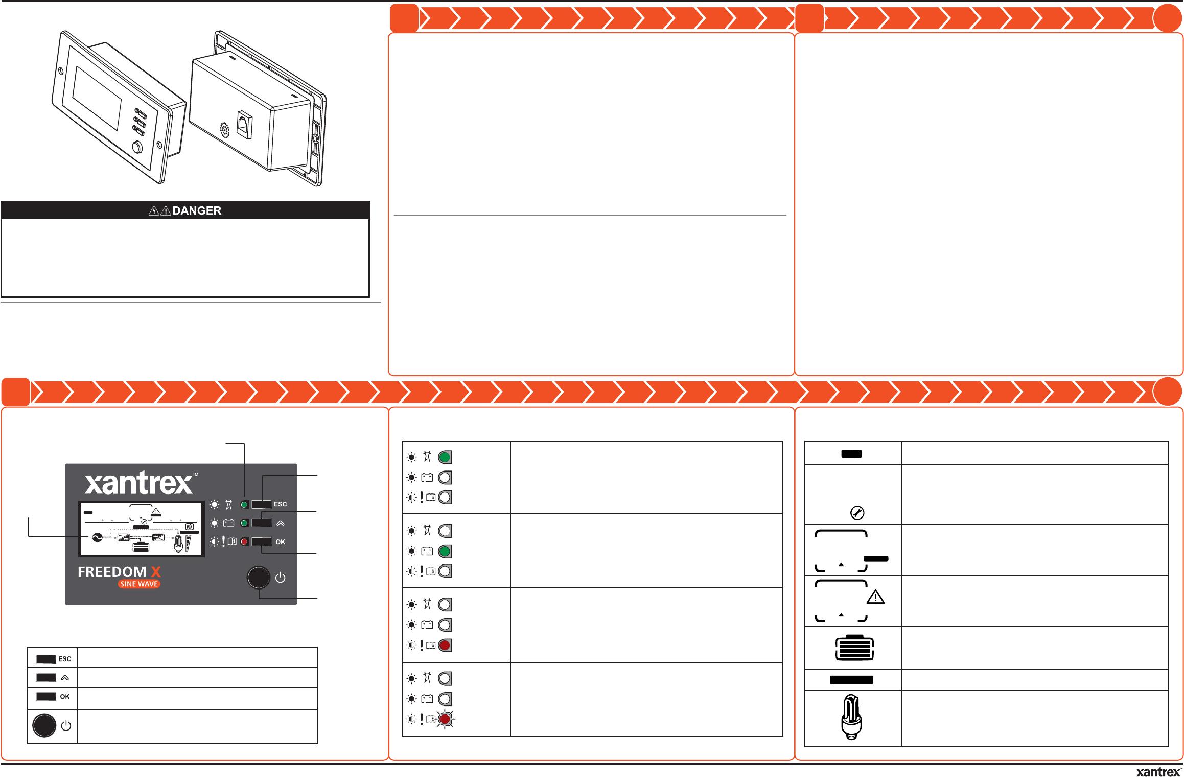 Schneider Electric Solar Inverters USA FXRP-BT Remote Panel ... on