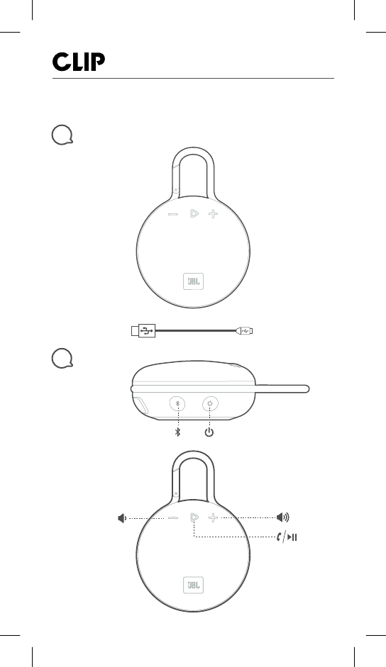 Harman JBLCLIP3AN Portable Bluetooth Speaker User Manual