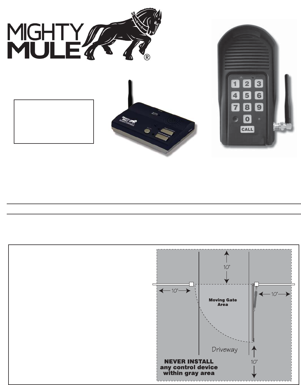 Gto Access Systems Mm136kp Mighty Mule Retail Keypad User Manual Mm136 500 Wiring Diagram