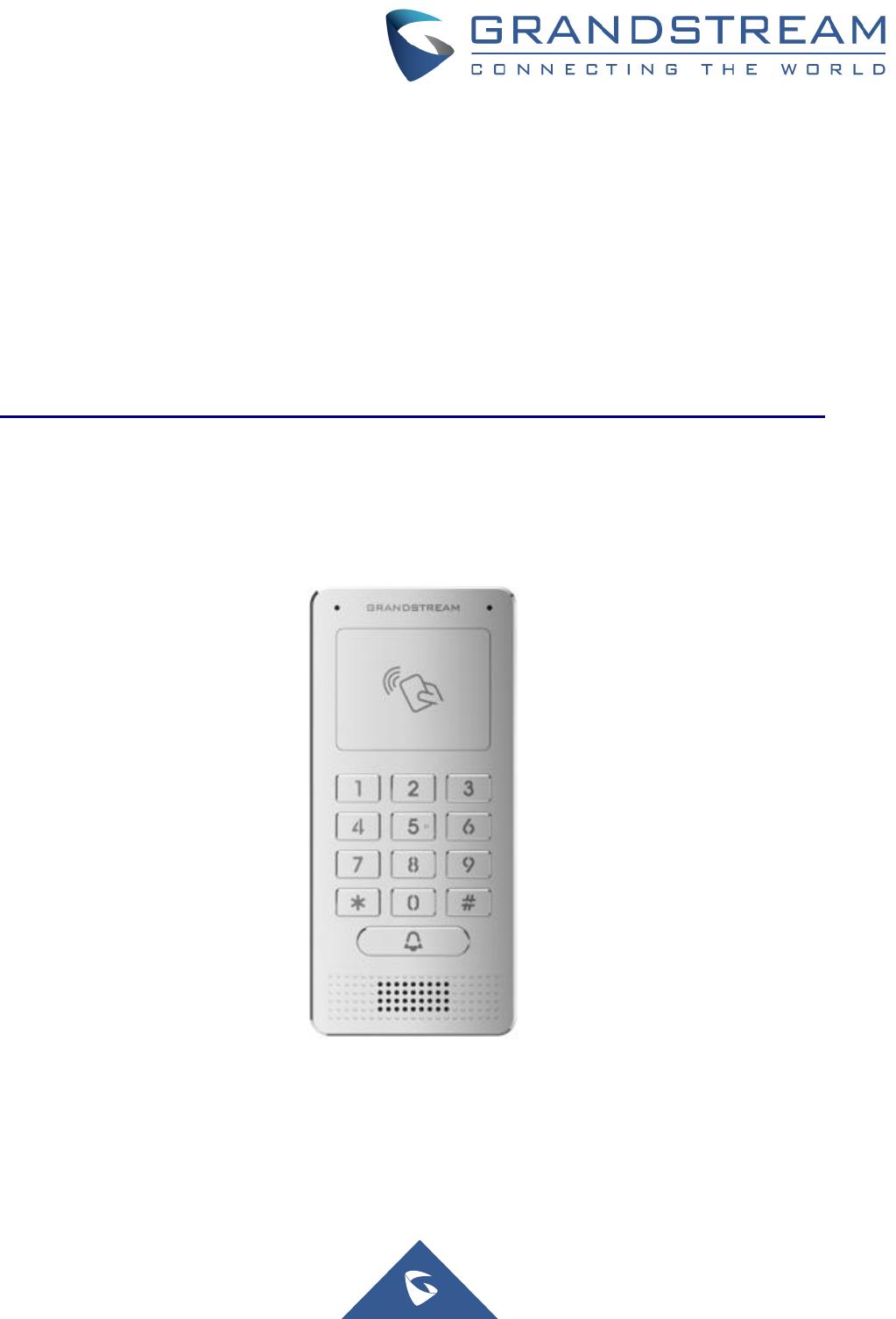 Grandstream Networks GDS3705 IP Audio Door System User Manual