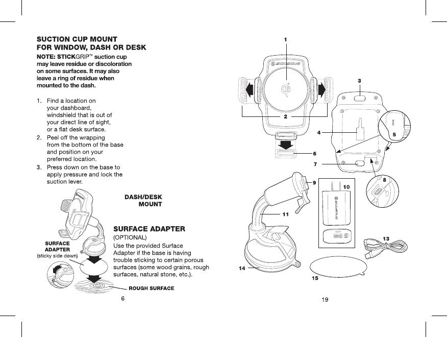 Scosche QM10W Wireless Car Charger User Manual FC52 QM10W 4 13