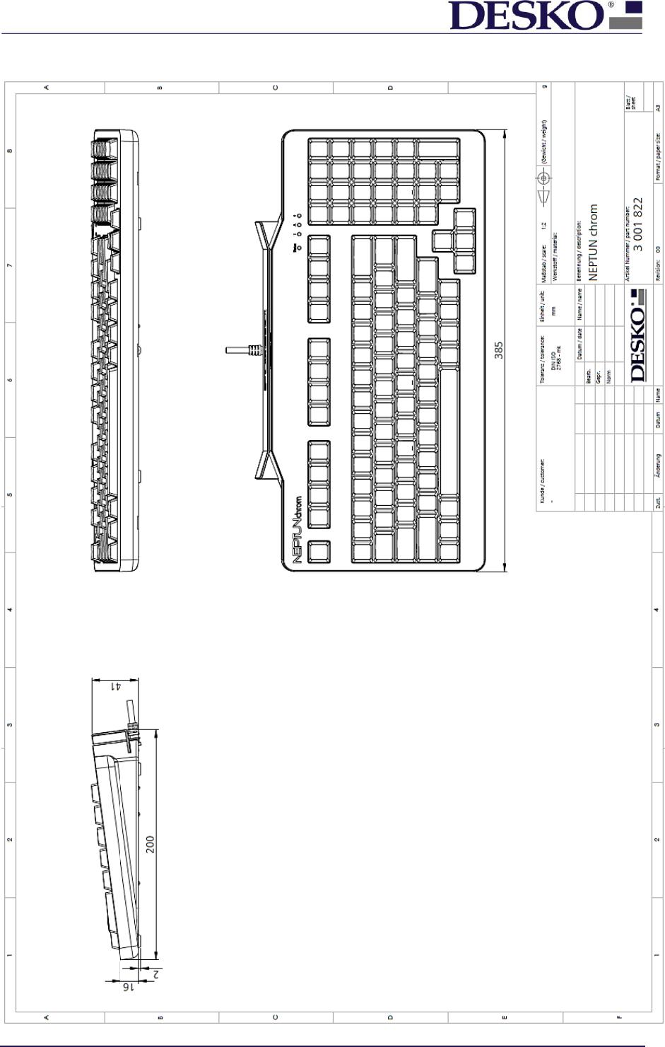 DESKO NEPTUN1 Keyboard with multiple Card Readers User Manual
