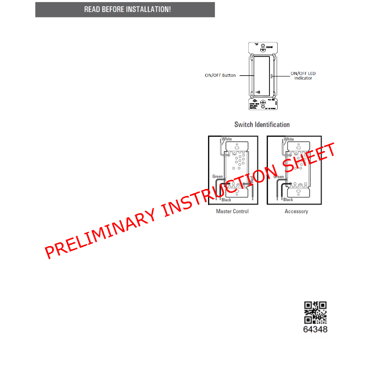 Cooper Wiring Devices Rf9617 Z Wave Plus Accessory Switch User Diagrams Users Manual