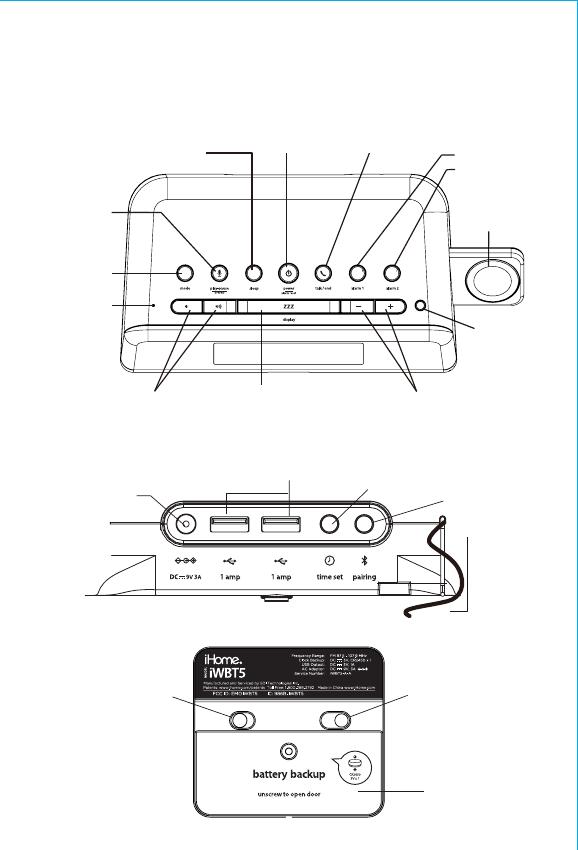 SDI Technologies IWBT5 Bluetooth Dual Alarm Clock Radio