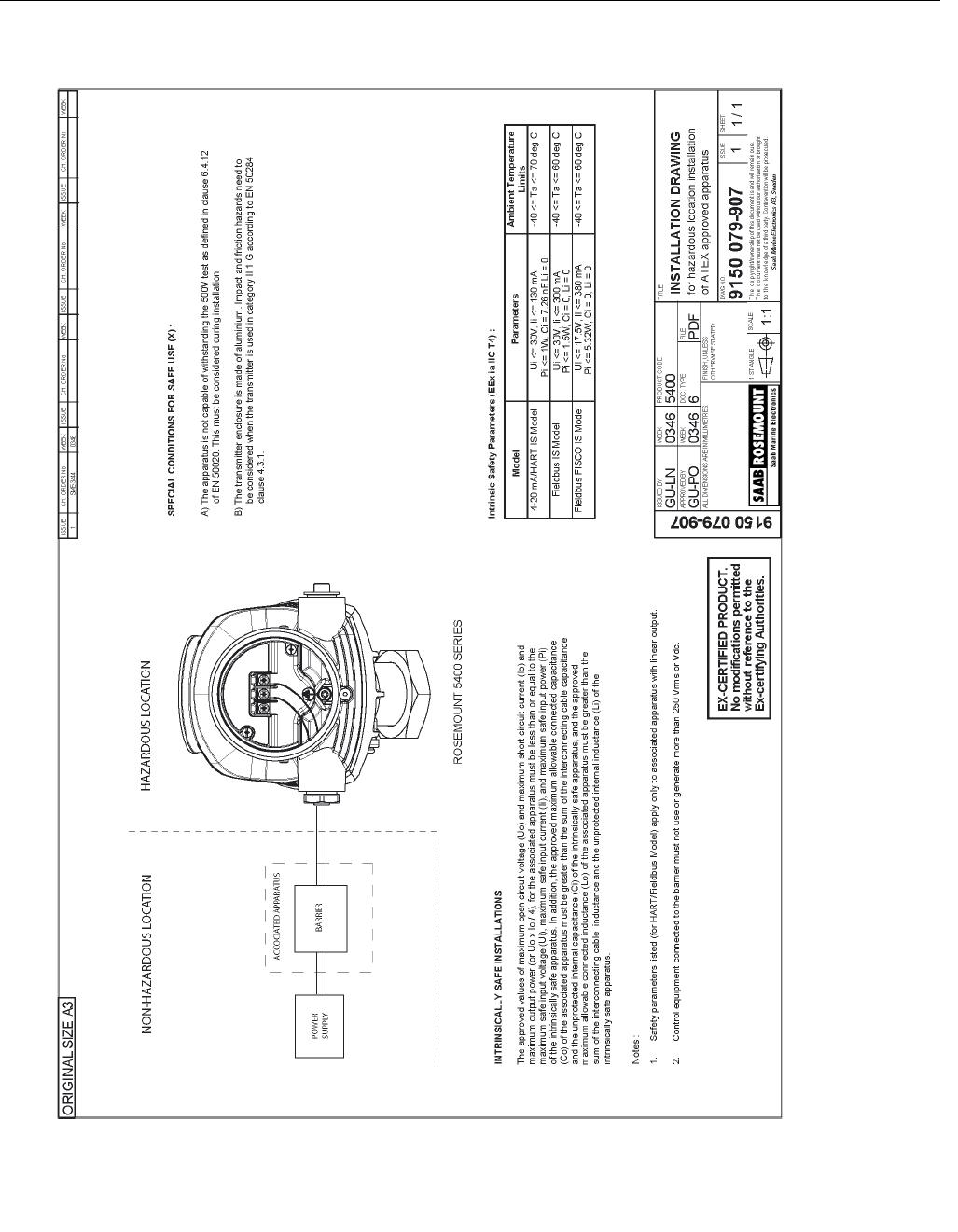 Rosemount Tank Radar 5402 Radar Level Gauge User Manual