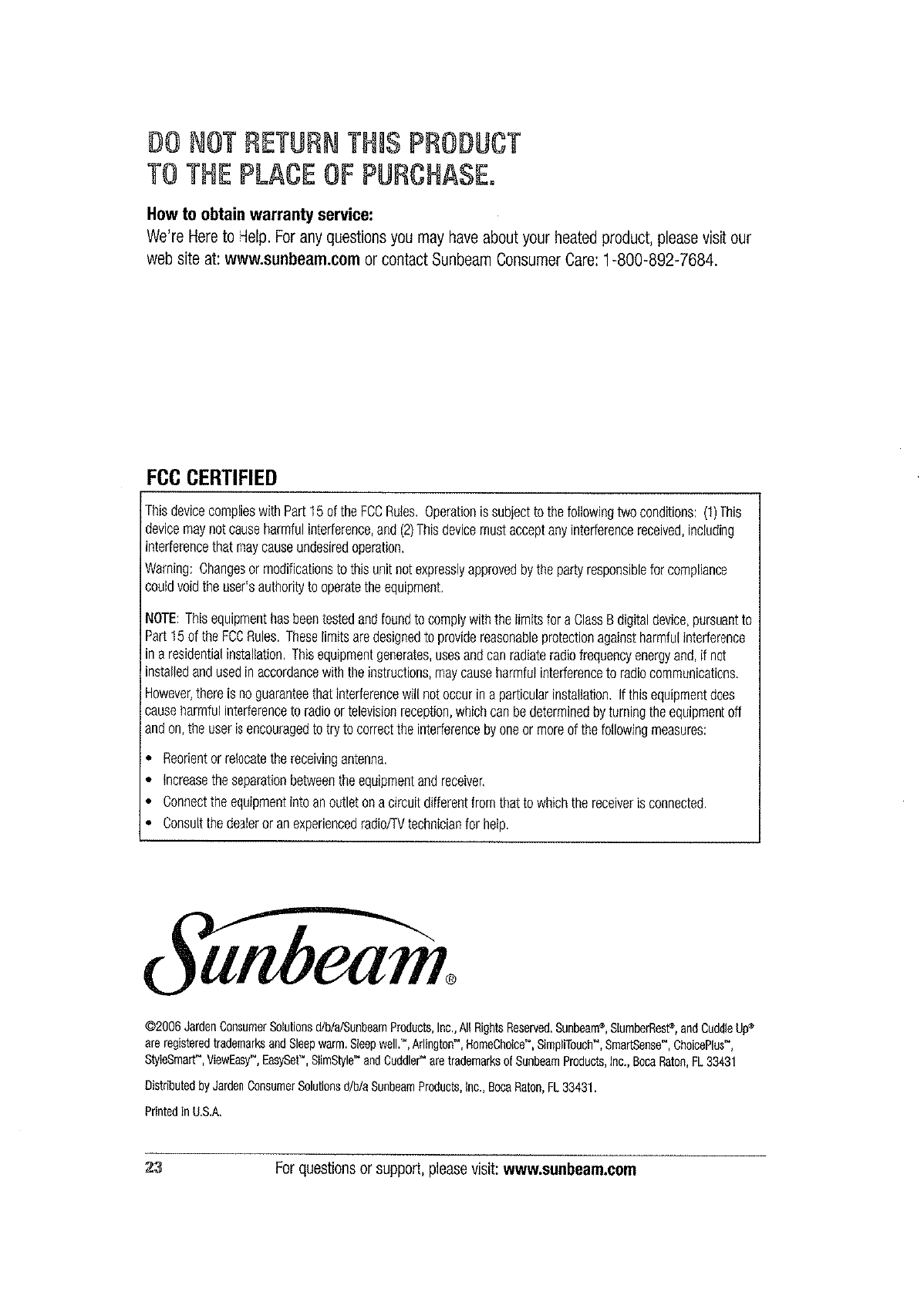 Sunbeam L85kqr Remote Blanket Control For Ptc Dual User Manual Pad Wiring Diagram Also Circuit Electric Frequently Asked Questions