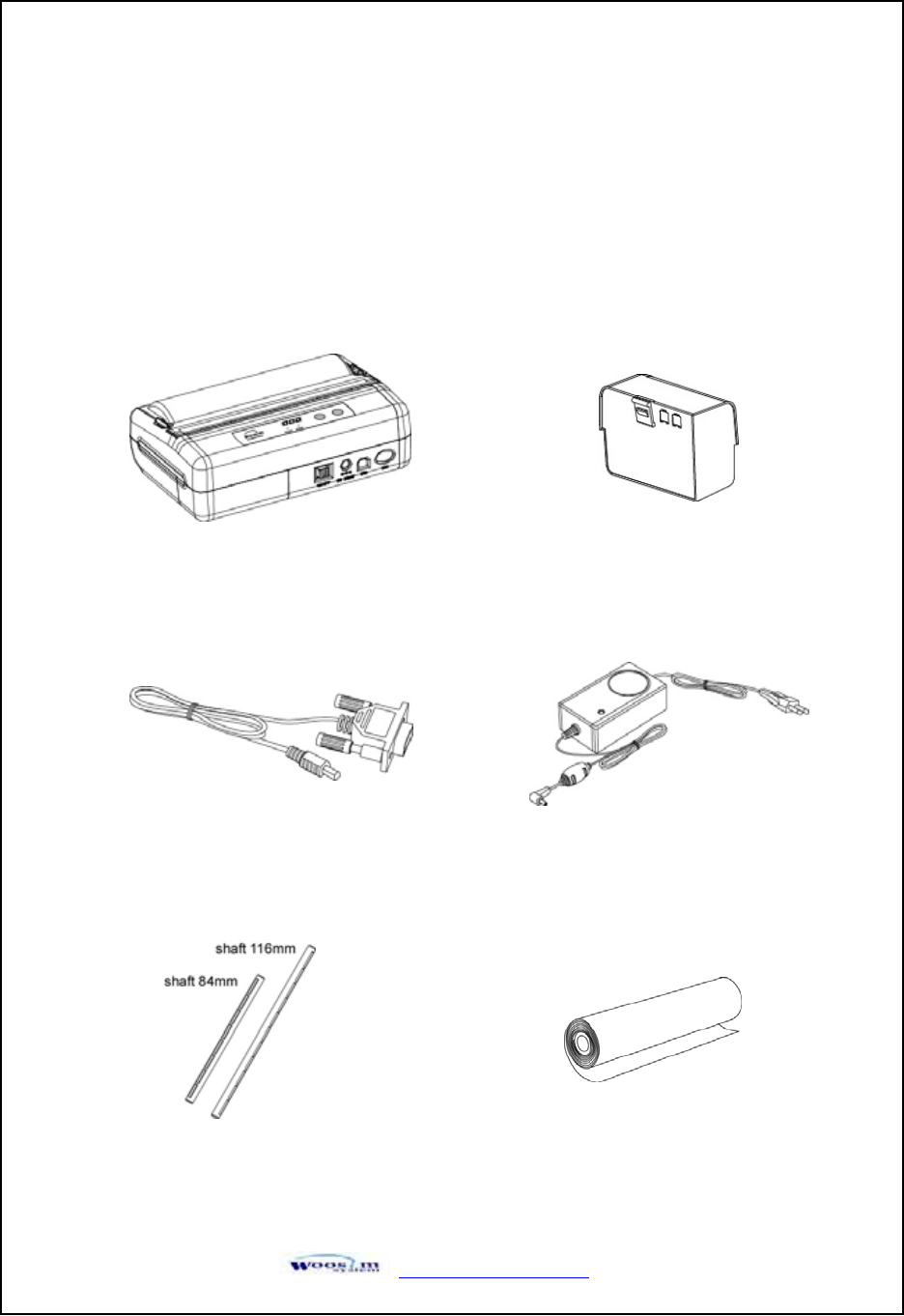 Woosim System PORTI-W40 Bluetooth Mobile Printer User