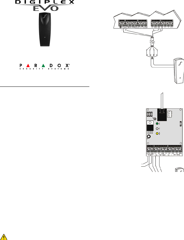 Paradox Security Systems DGPR910 Proximity Reader User