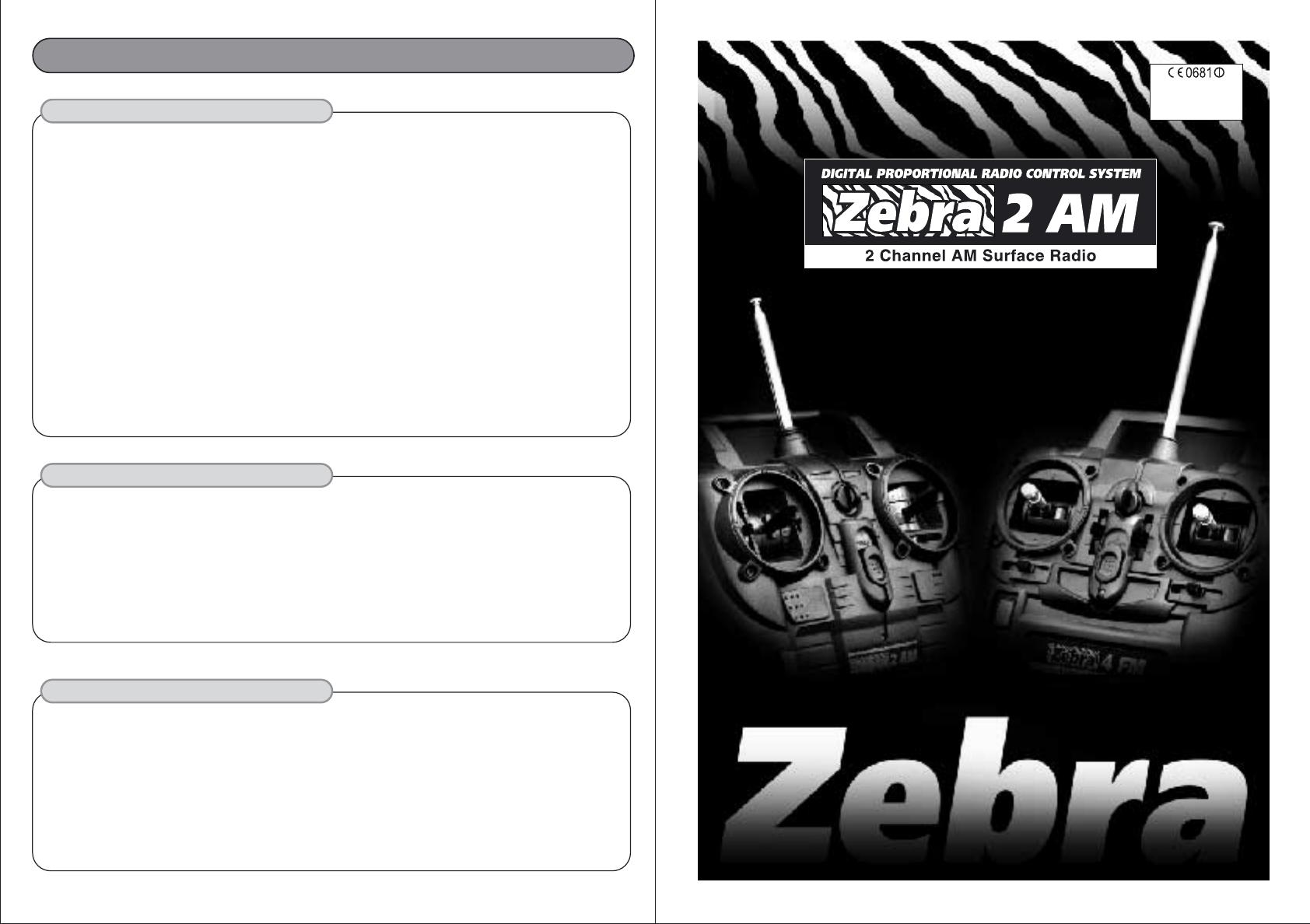 Hitec Rcd Zebra275 Remote Control Transmitter User Manual Zebra 2am Servo Wiring Diagram Users 1 0f 2