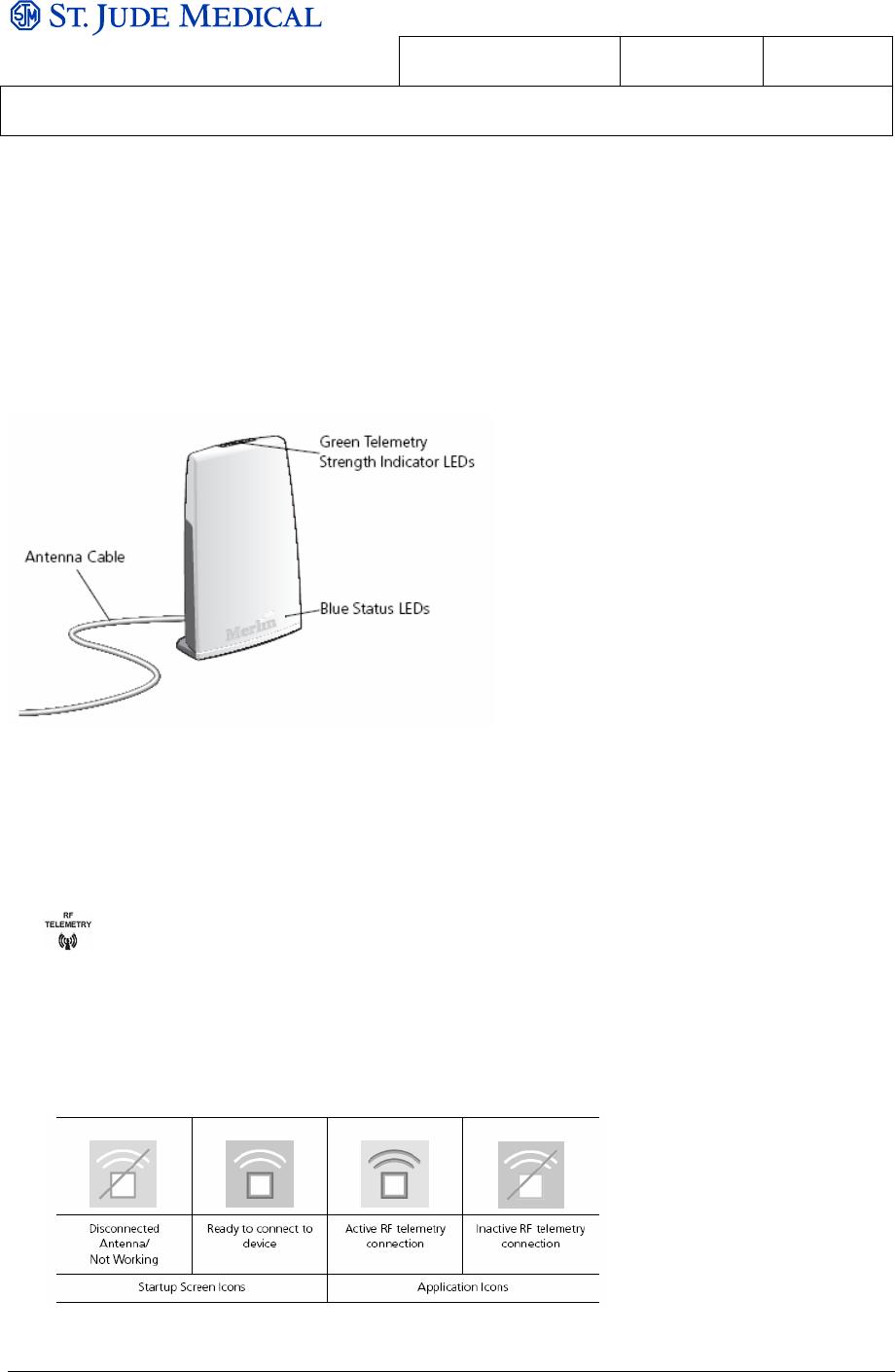 St Jude Medical SJMRFANT Merlin Antenna 3638 User Manual