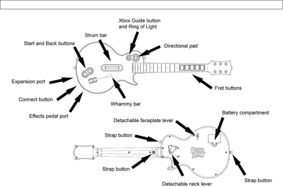 RedOctane BW95123805 Guitar Hero Wireless Controller User