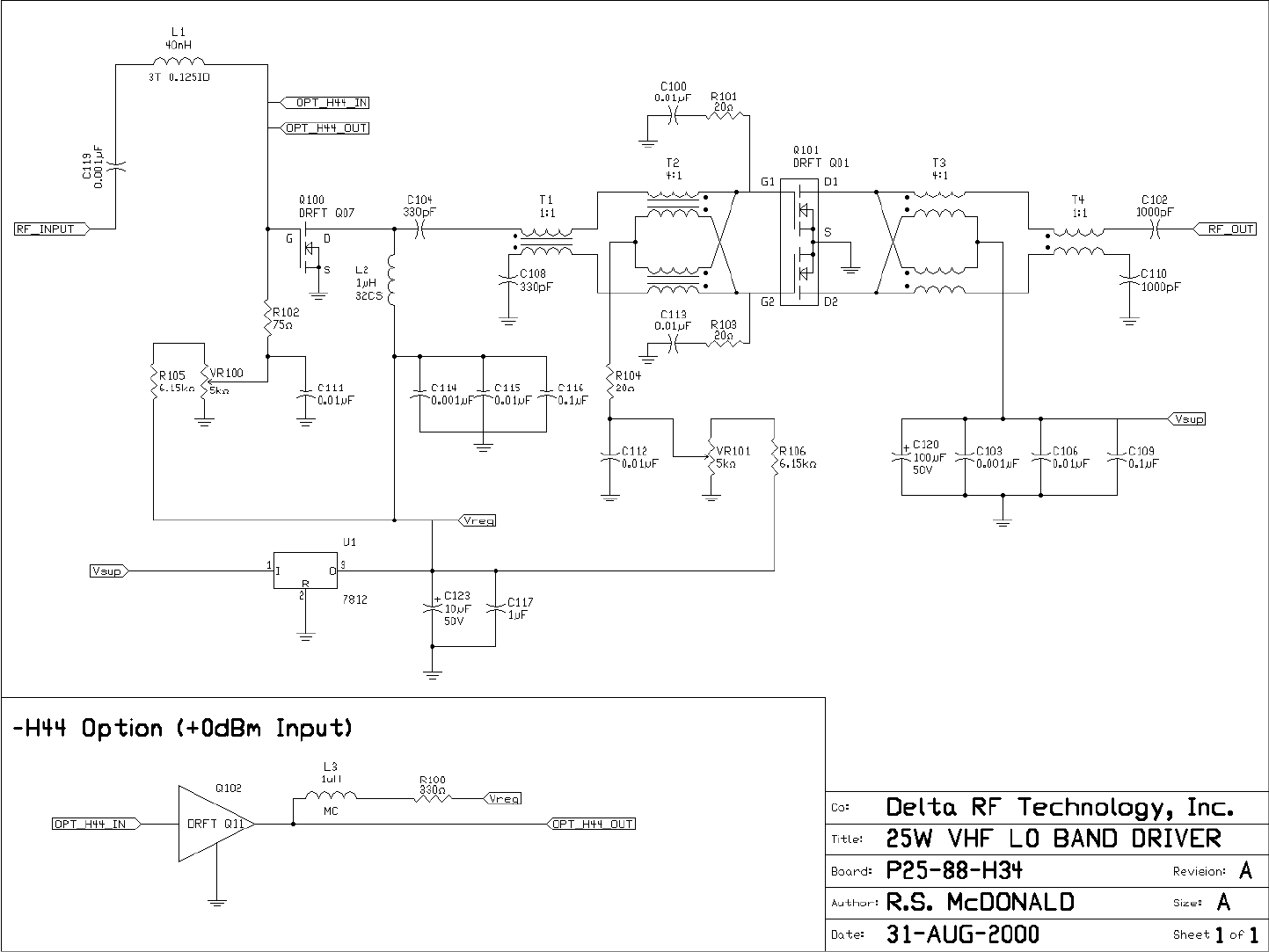 Technalogix Tav25h Vhf Television Broadcast Transmitter User Manual Ground Monitor C120 Wiring Diagram A