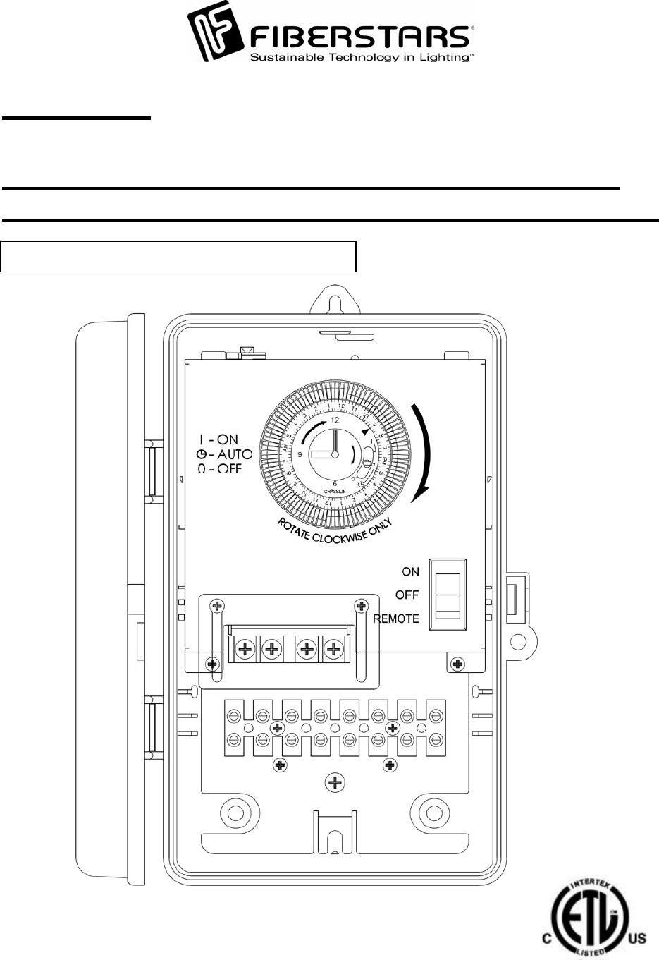 Fiberstars Wpc04 Wireless Controller For Swimming Pool Peripherals Diagram User Manual Wpc 1