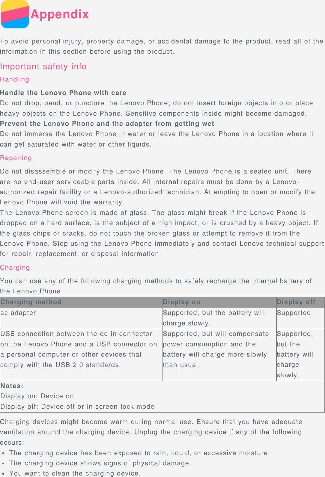 Lenovo Vibe K5 Note Operation Manual A7020a48 A40 Ug En