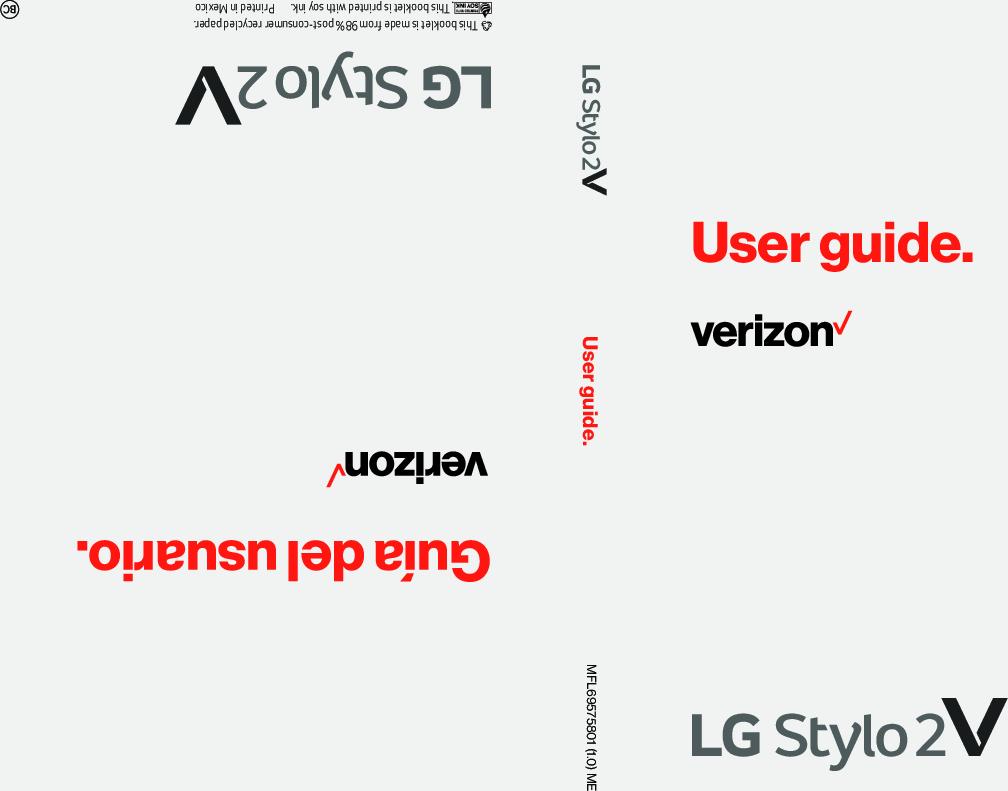 Lg Stylo 2 V (Verizon Wireless) User Guide VS835 VZW EN