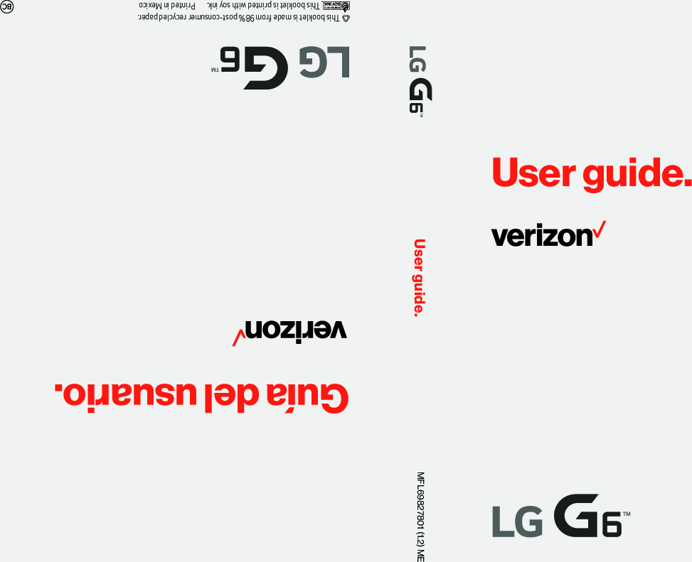 Lg G6 (Verizon Wireless) Operating Instructions VS988 VZW UG EN