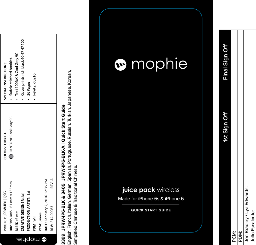 outlet store 54a95 1ed89 mophie WRLPAD mophie wireless charging base User Manual
