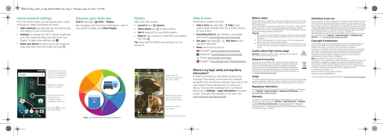 Motorola MOTO G4 Play Quick Start Guide GSG En GB