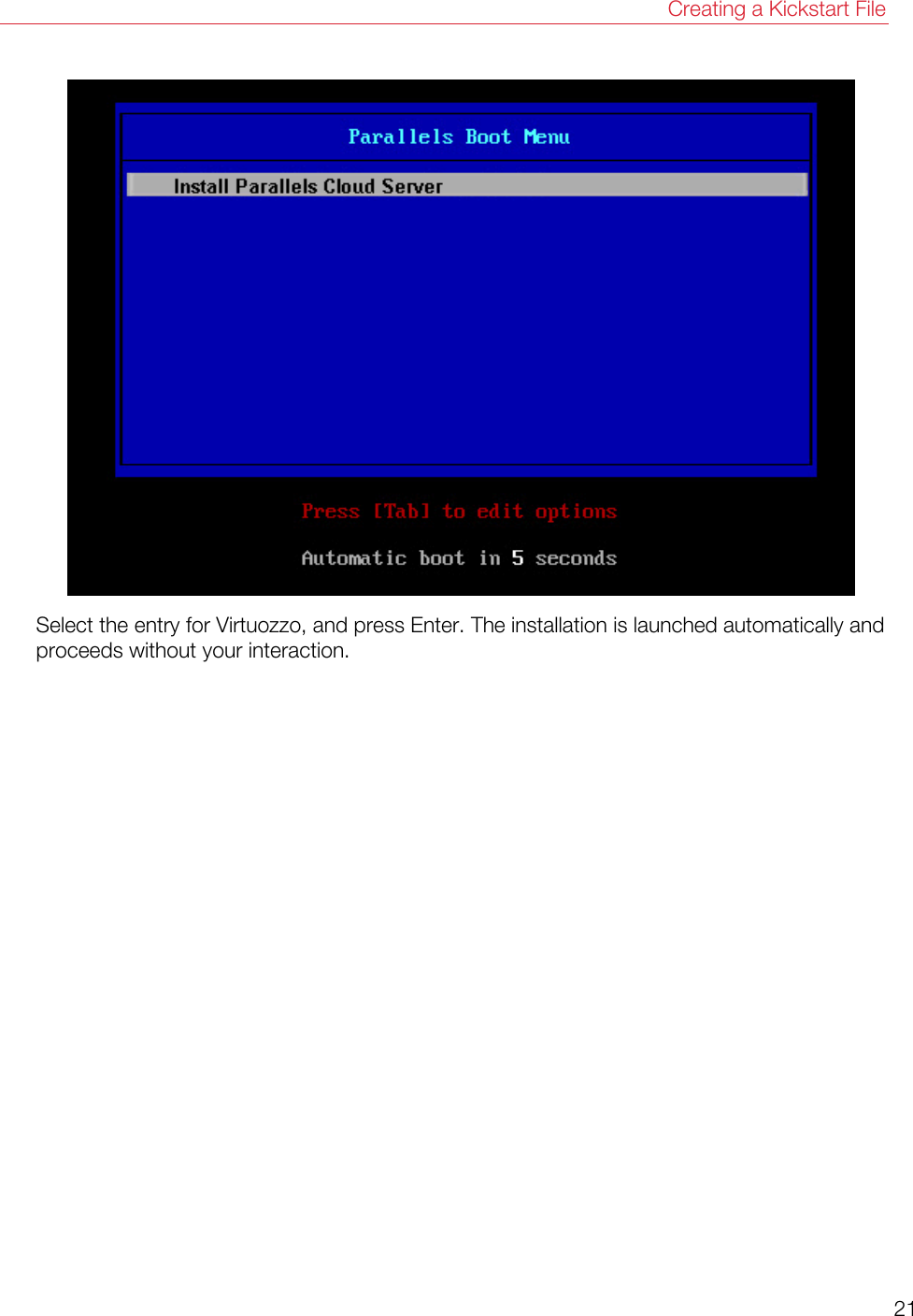 Parallels Cloud Server 6 0 Installation Using PXE 6 Install En