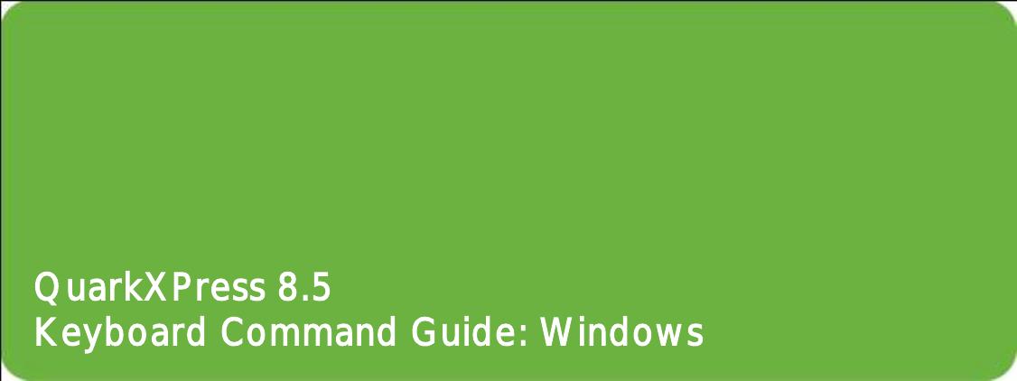 For Windows QuarkXPress 8.5