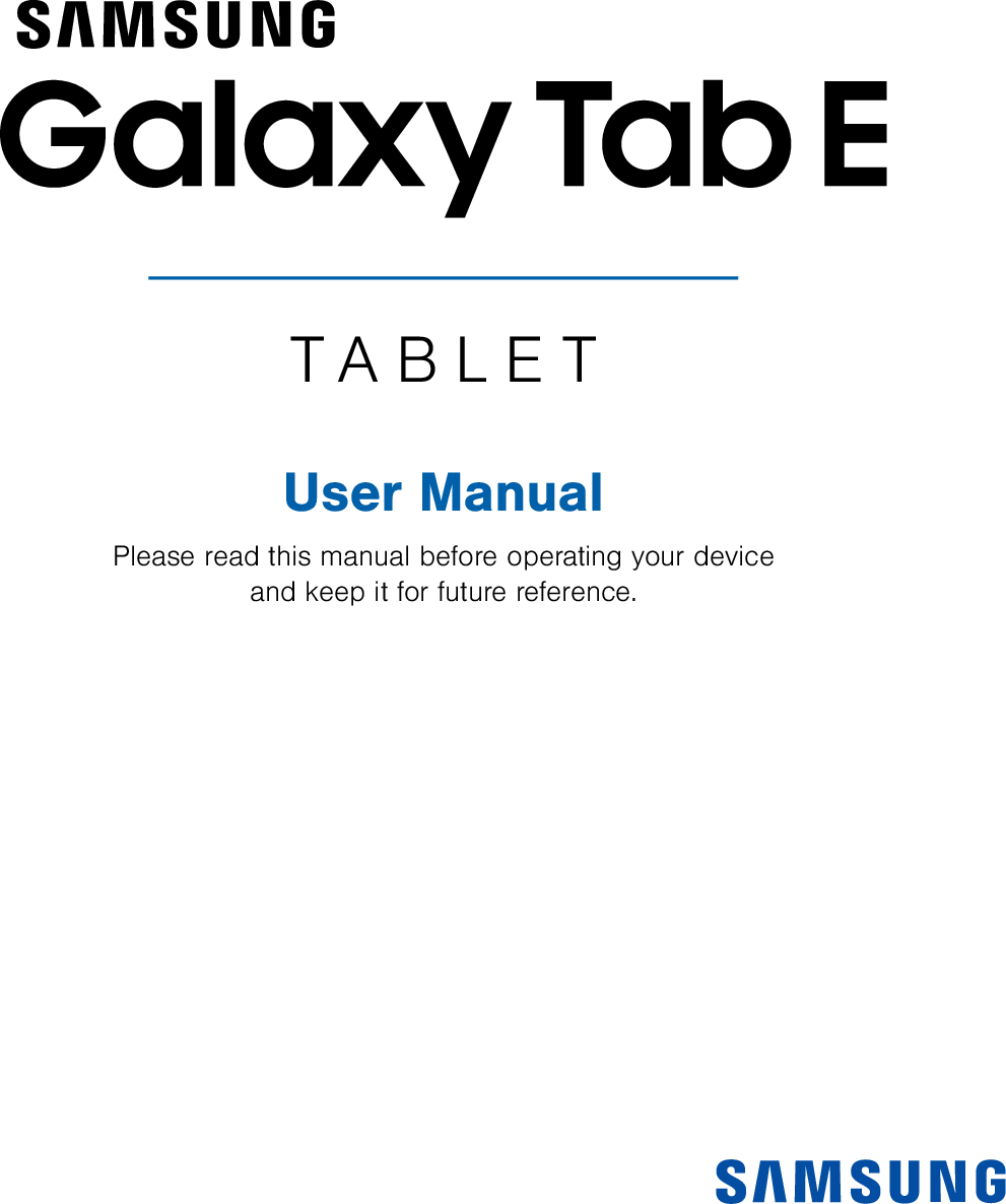 Samsung Galaxy Tab E T377A User Manual (AT&T) ATT SM EN