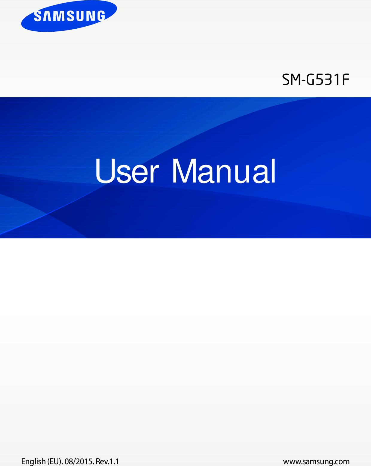 Samsung Galaxy Grand Prime 4G User Manual SM G531F UM Eng