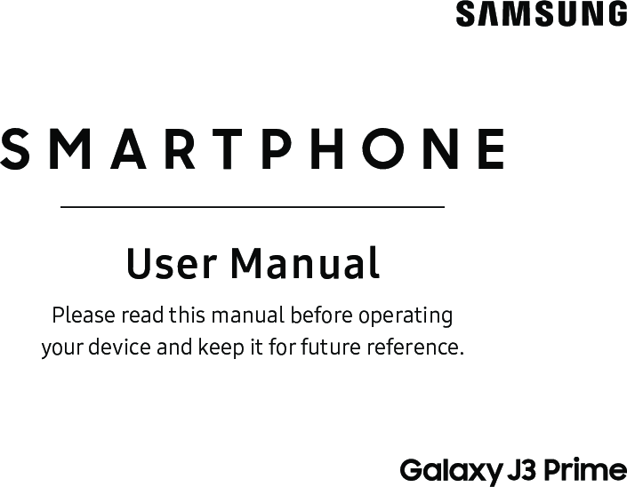 Samsung Galaxy J3 Prime J327T User Manual (T Mobile) Operating Guide