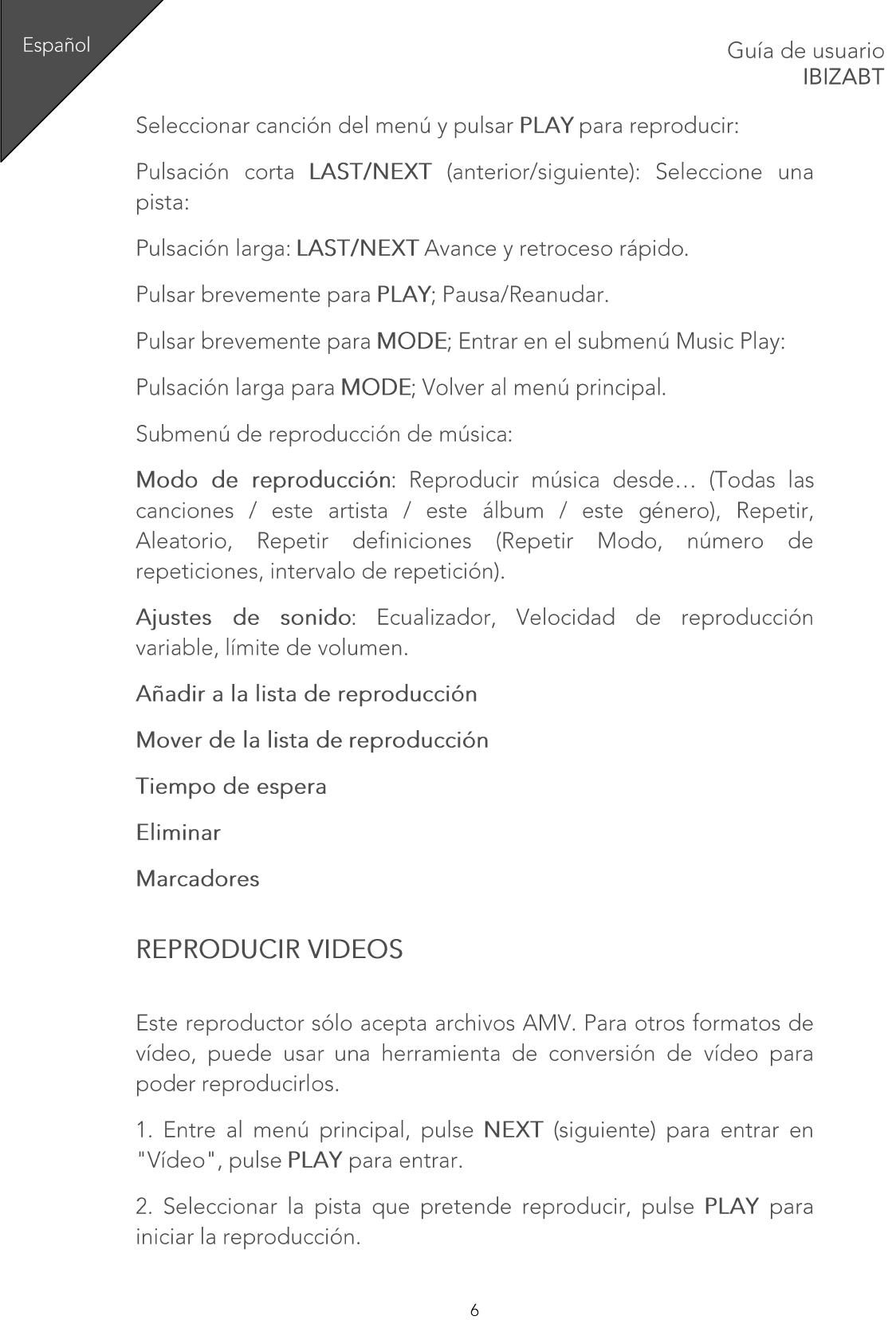 Sunstech Ibiza BT User Manual IBIZABT EN ES FR PT