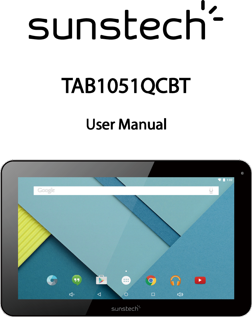 Sunstech Tab 1051 QCBT Operating Instructions TAB1051QCBT EN