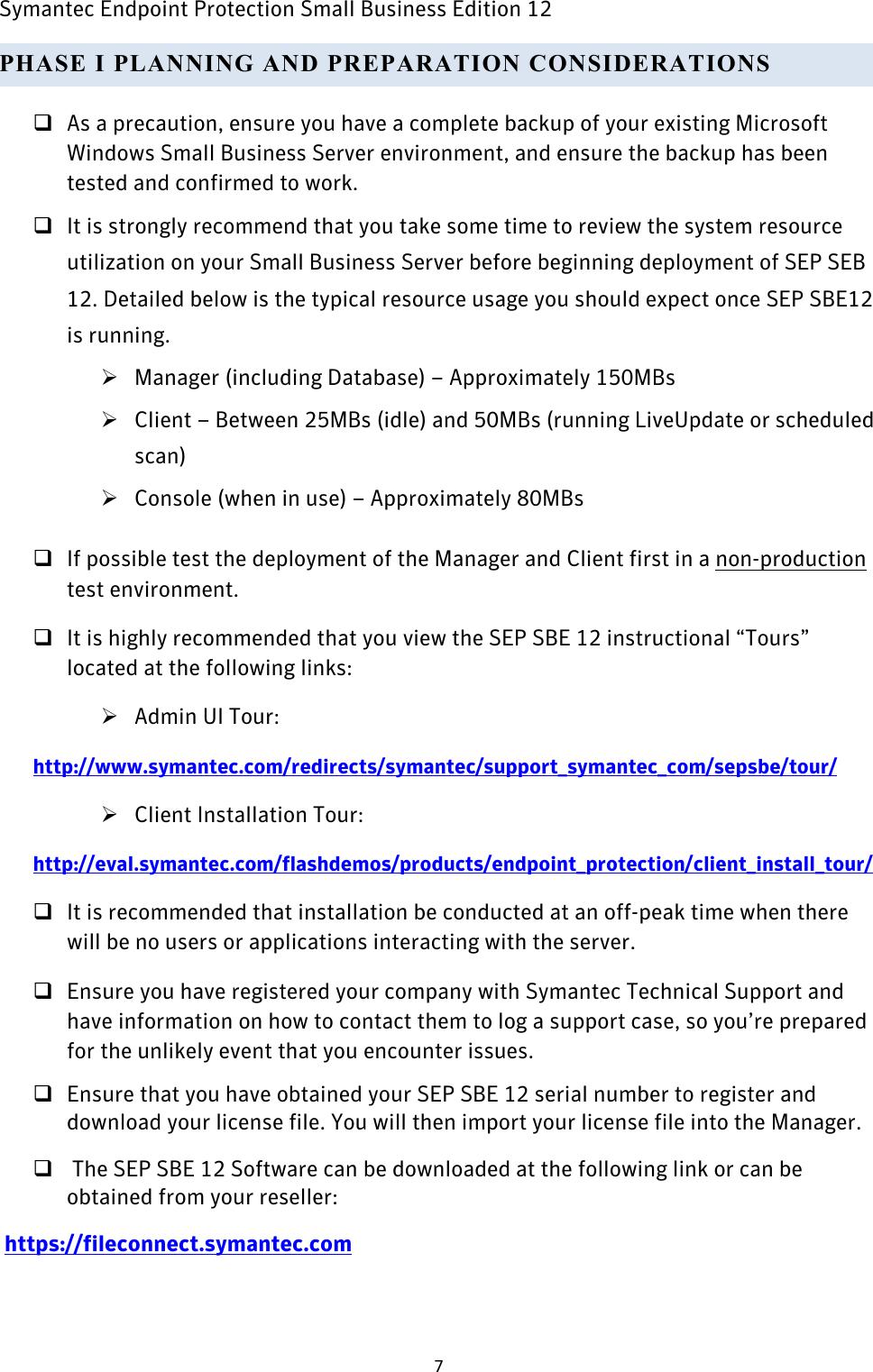Symantec Best_Practices_SEPSBE12 Endpoint Protection 12 0