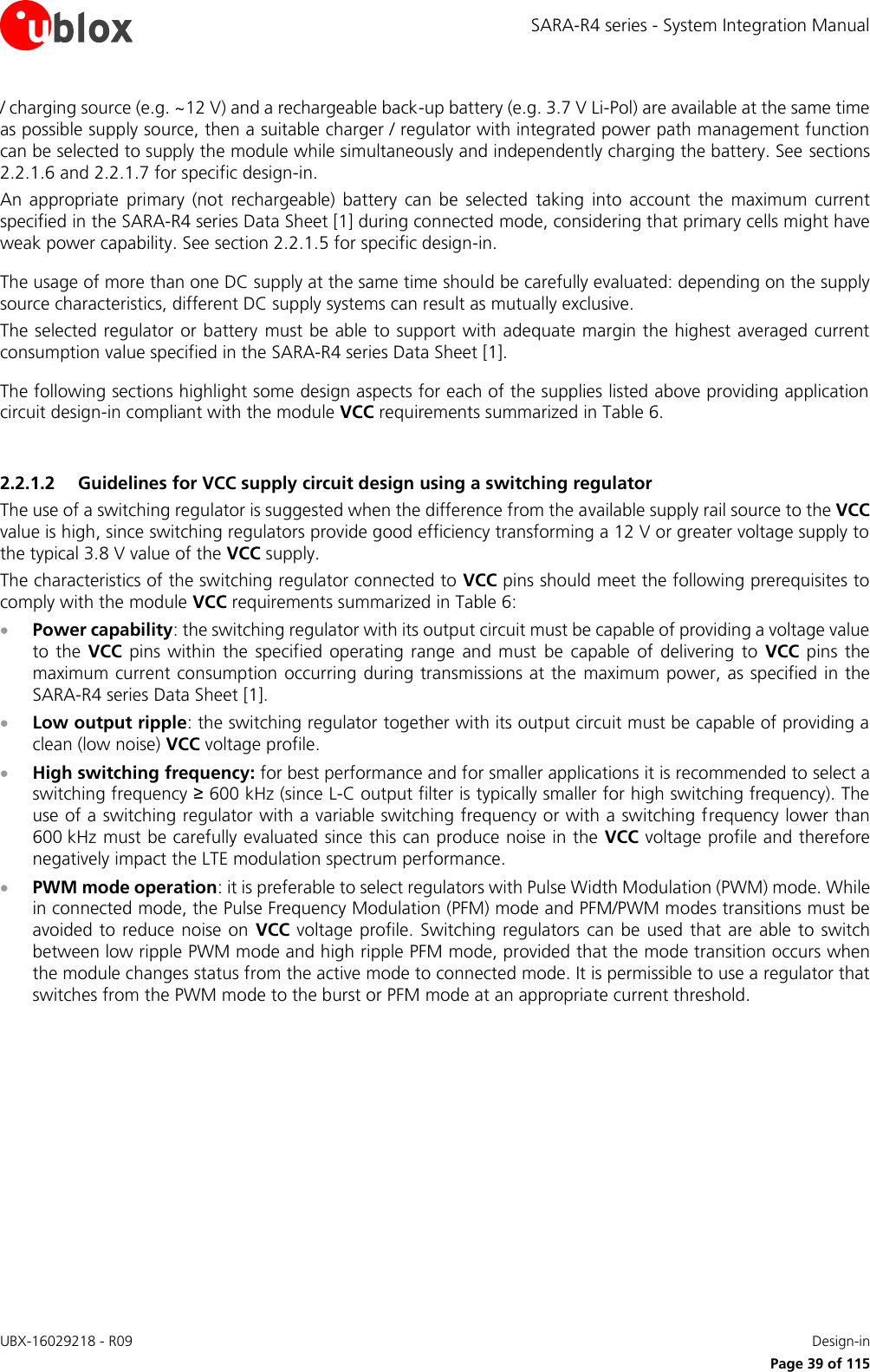 u blox 2AGQN4NNN Cellular Module User Manual SARA R4 series