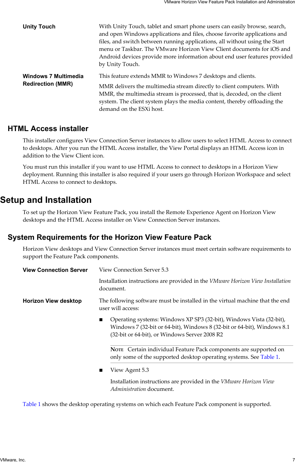 Vmware Horizon View Feature Pack Installation And Administration 5 3