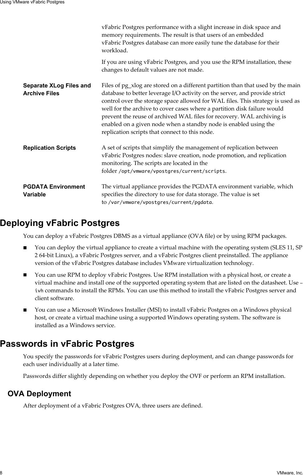 Vmware Using VFabric Postgres 9 3 2 V Fabric User Guide 93 ug en