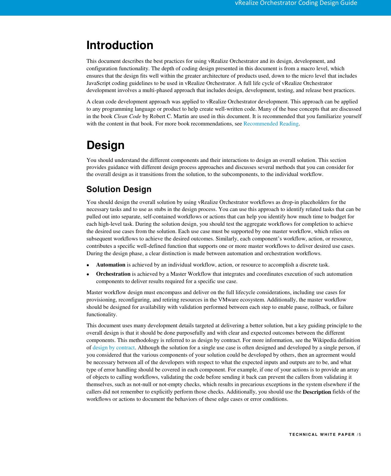 Vmware VRO Coding Design Guide V Realize Orchestrator